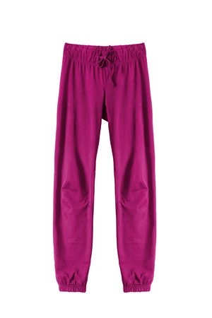 athletic wear: Pink sport pants isolated over white