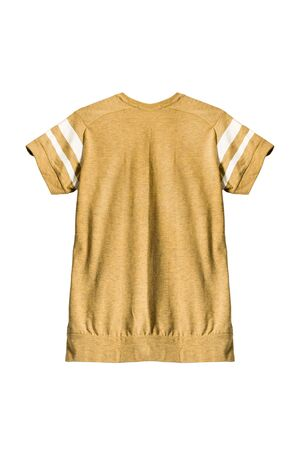 striped pajamas: Yellow sport t-shirt isolated over white
