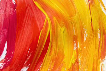 Abstract red and yellow brush strokes as a background
