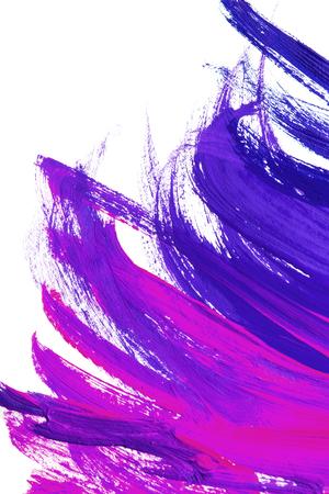背景として白地に紫のブラシ ストローク