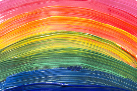 Abstract rainbow colors painting as a background
