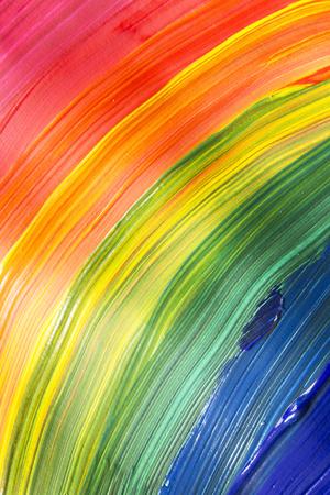 抽象背景として虹パレット絵画