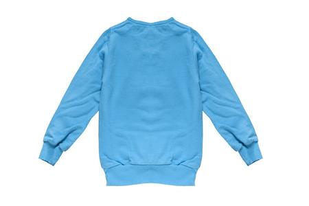 sweatshirt: Blue fleece sweatshirt on white background Stock Photo