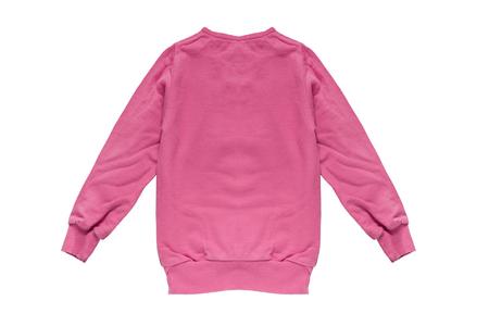 sweatshirt: Sudadera polar rosa sobre fondo blanco