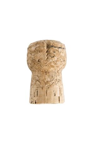 champagne cork: Champagne cork stopper on white background Stock Photo