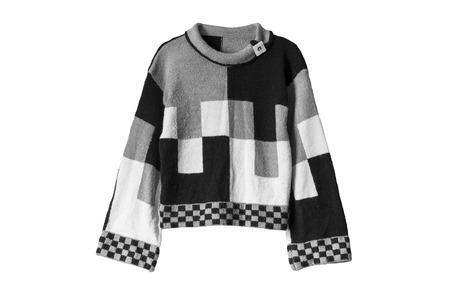 sweatshirt: Black and white sweatshirt on white background
