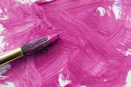brush painting: Pink painting brush strokes as a background Stock Photo