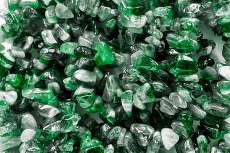 green gemstones: Green gemstones closeup as a background Stock Photo