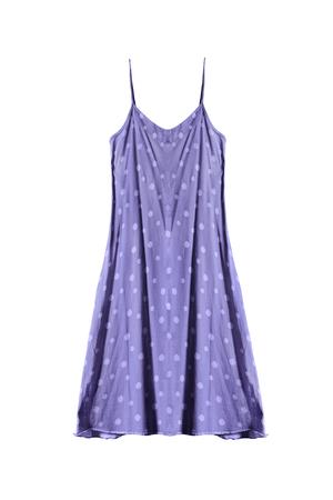 sundress: Purple sundress with polka dots on white background