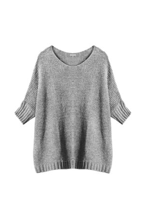 oversize: Oversize gray pullover isolated over white Stock Photo