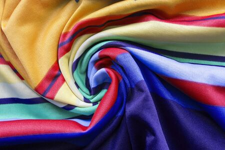 Silk colorful cloth draped as a background