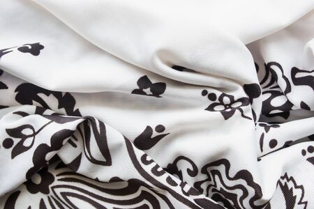 draped: Draped silk kerchief closeup as a background