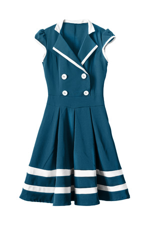 school uniforms: School uniform sailor dress isolated over white