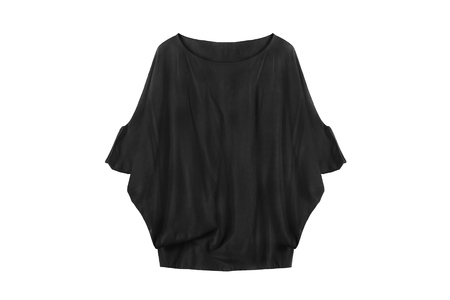 oversize: Black knitted oversize pullover isolated over white