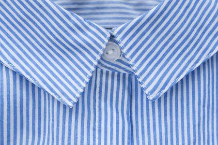 neckband: Blue striped shirt collar closeup as a background