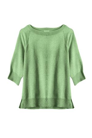sweatshirt: Gree basics sweatshirt isolated over white Stock Photo