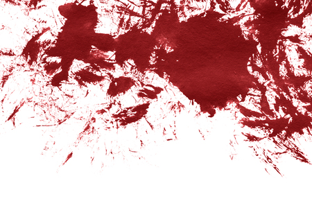 blotch: Red paint blotch on white as a background
