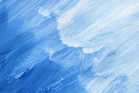 Abstract blue shades painting as a background