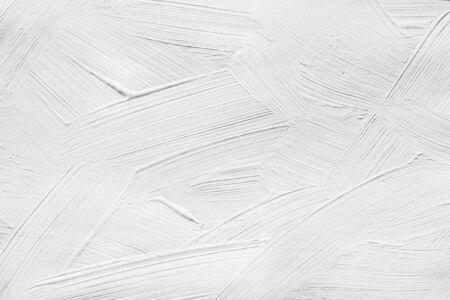 Pinceladas de color blanco de la pintura como fondo