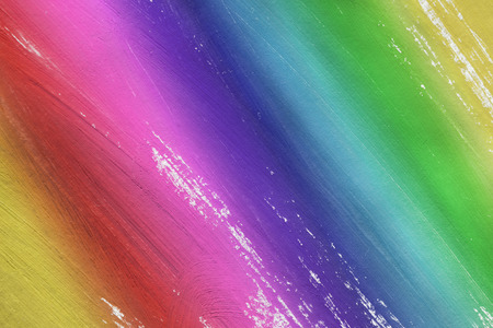 yellow paint: Abstract rainbow colors painting as a background