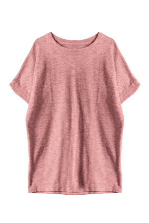 oversize: Pink casual oversize dress isolated over white