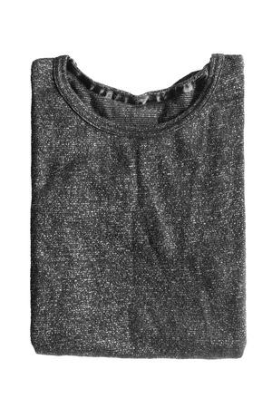 sweatshirt: Folded black sweatshirt on white background Stock Photo