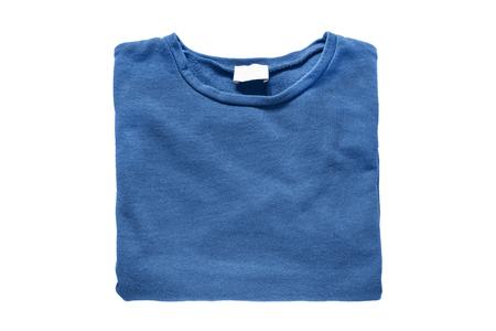 sweatshirt: Plegada sudadera azul aislado m�s de blanco Foto de archivo