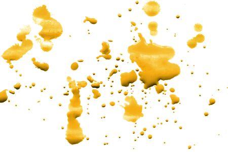 yellow paint: Splash of yellow paint on white background