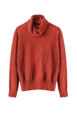 terracotta: Terracotta cashmere sweater on white background