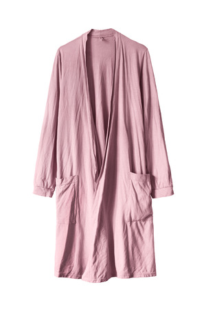 dressing gown: Pink dressing gown on white background