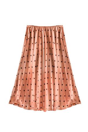 pleated: Beige pleated chiffon skirt on white background