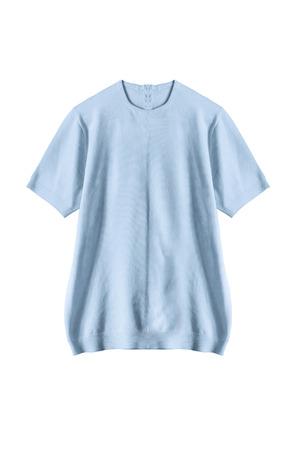 sweatshirt: Blue basic sweatshirt isolated over white