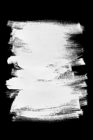 Abstract white paint brush strokes isolated over black