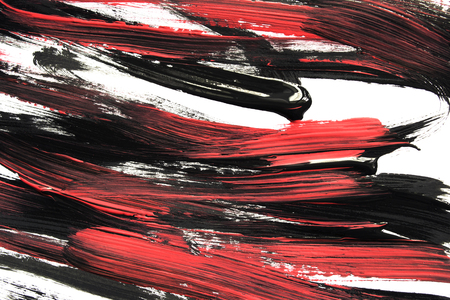 Black and red acrylic painting on white as a background 免版税图像
