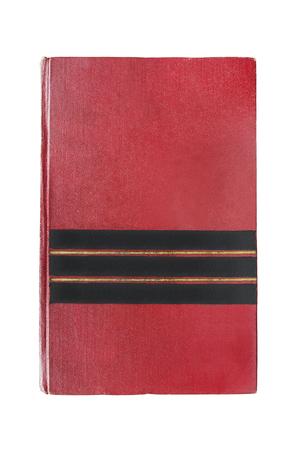Altes rotes leeres Buch über Weiß isoliert