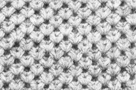 White knitted wool texture closeup as a background 免版税图像