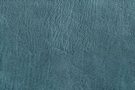 Blauwe lederen textuur close-up als achtergrond Stockfoto