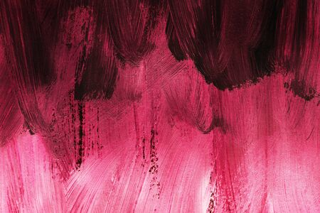 Abstract pink ombre gouache painting as a background
