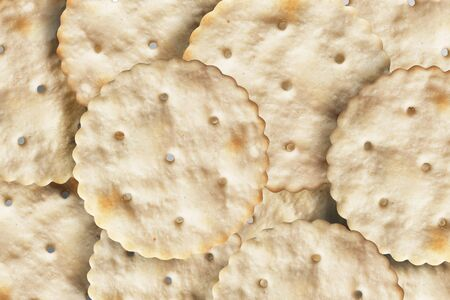 A lot of biscuit cookies closeup as a background