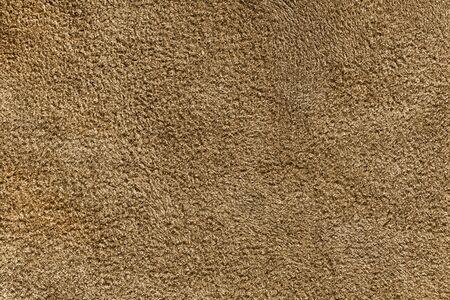 Blank brown fleece texture closeup as a background