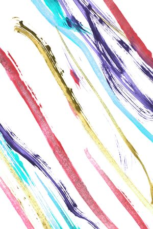 Colorful abstract paint stokes isolated over white 写真素材