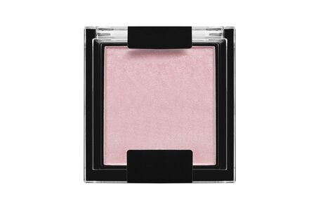 Rose pink shimmer blush box on white background 写真素材