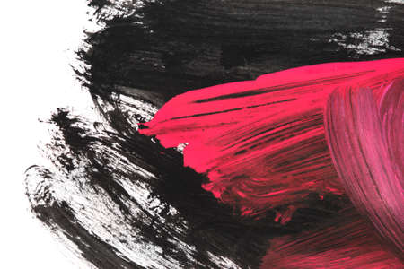 Black and pink abstract drawings on white background 版權商用圖片
