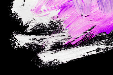 White and pink abstract drawings on black background 版權商用圖片