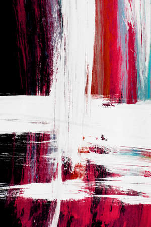 Colorful abstract gouache paintings on black as a background