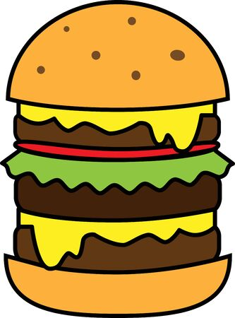Colored burger icon for web or applications
