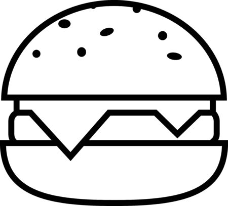 Burger icon for web or applications Ilustracja