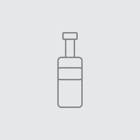 universal: Thin line bottle universal icon grey
