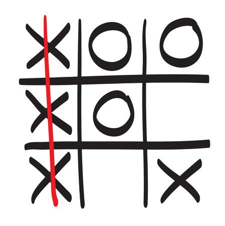 os: Hand drawn XO vector scribble icon symbol illustration black lines Illustration