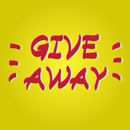 giveaway: Giveaway hand drawn vector scribble icon symbol Illustration